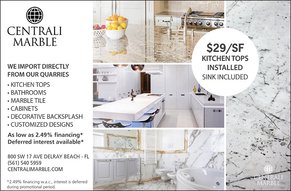 Centrali Marble Delray Beach Kitchen Counter Special